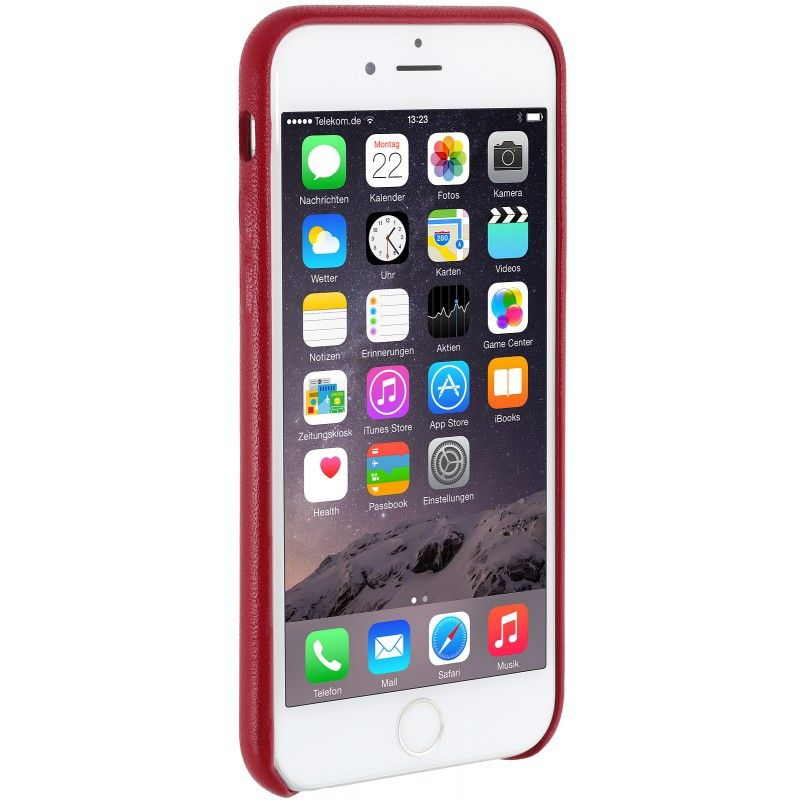 StilGut Premium Backcover für Apple iPhone 6/6s rot