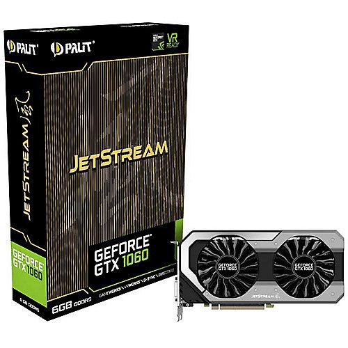 Palit GeForce GTX 1060 JetStream 6GB GDDR5 Grafikkarte DVI/HDMI/3xDP | 4710636269189