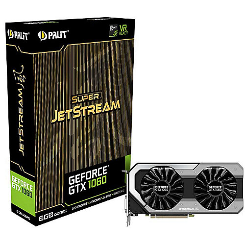 GeForce GTX 1060 SuperJetStream 6GB GDDR5 Grafikkarte DVI/HDMI/3xDP | 4710636269196