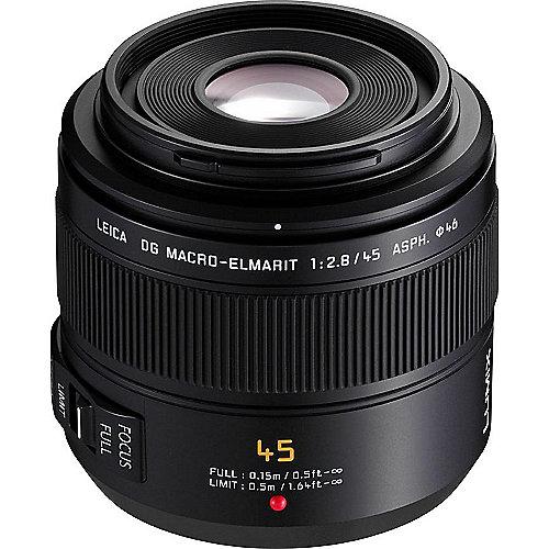 Panasonic Leica DG 45mm F/2.8 Makro-Elmarit OIS Objektiv für Lumix G (H-ES045E) | 5025232537365
