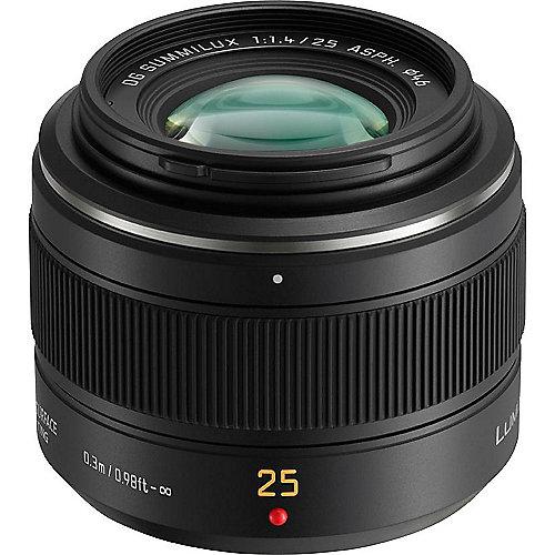 Panasonic Leica DG 25mm F/1,4 Summilux Weitwinkel Objektiv für Lumix G (H-X025E | 5025232638048
