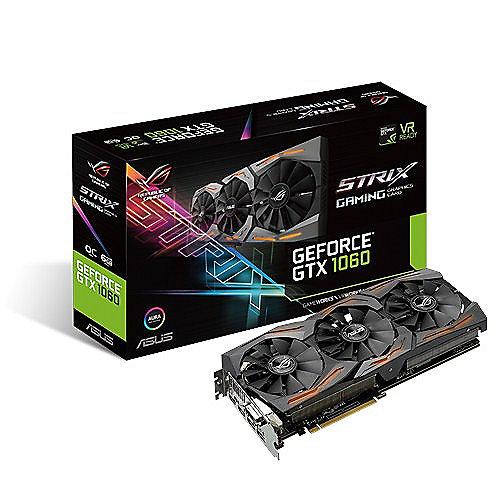 Asus GeForce GTX 1060 Strix ROG OC 6GB GDDR5 Grafikkarte 2xDP/2xHDMI/DVI | 4712900469349