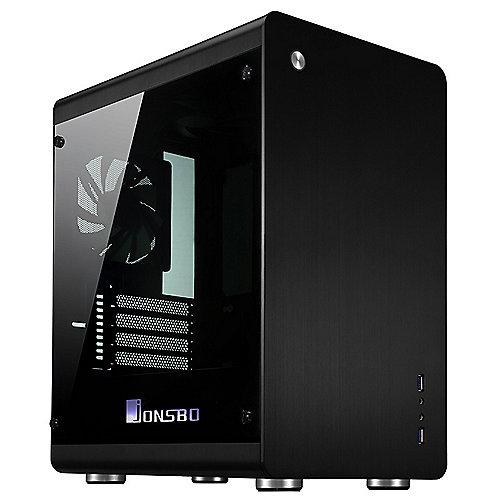 Jonsbo RM3 Mini Tower mATX Gehäuse mit Seitenfenster, USB3.0, Schwarz | 4250140354907
