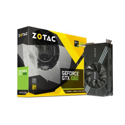 Zotac  GAMING GeForce GTX 1060 Mini Edition 6GB GDDR5 Grafikkarte DVI/HDMI/3xDP | 4895173610158