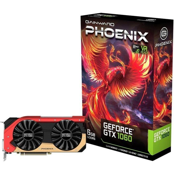 Gainward GeForce GTX 1060 Phoenix 6GB GDDR5 Grafikkarte DVI/HDMI/3xDP