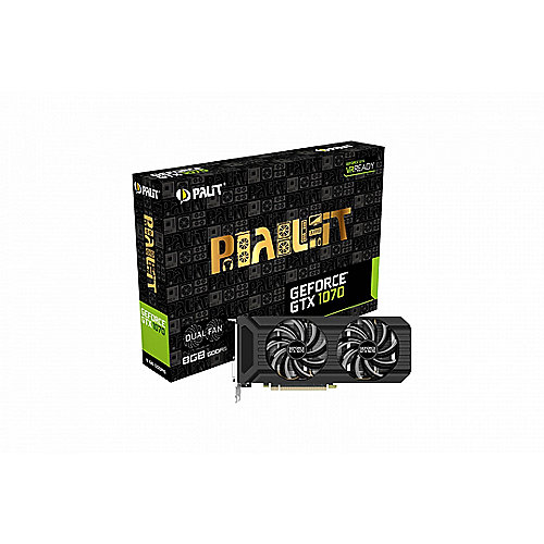 Palit GeForce GTX 1070 Dual 8GB GDDR5 Grafikkarte DVI/HDMI/3xDP | 4710636269219