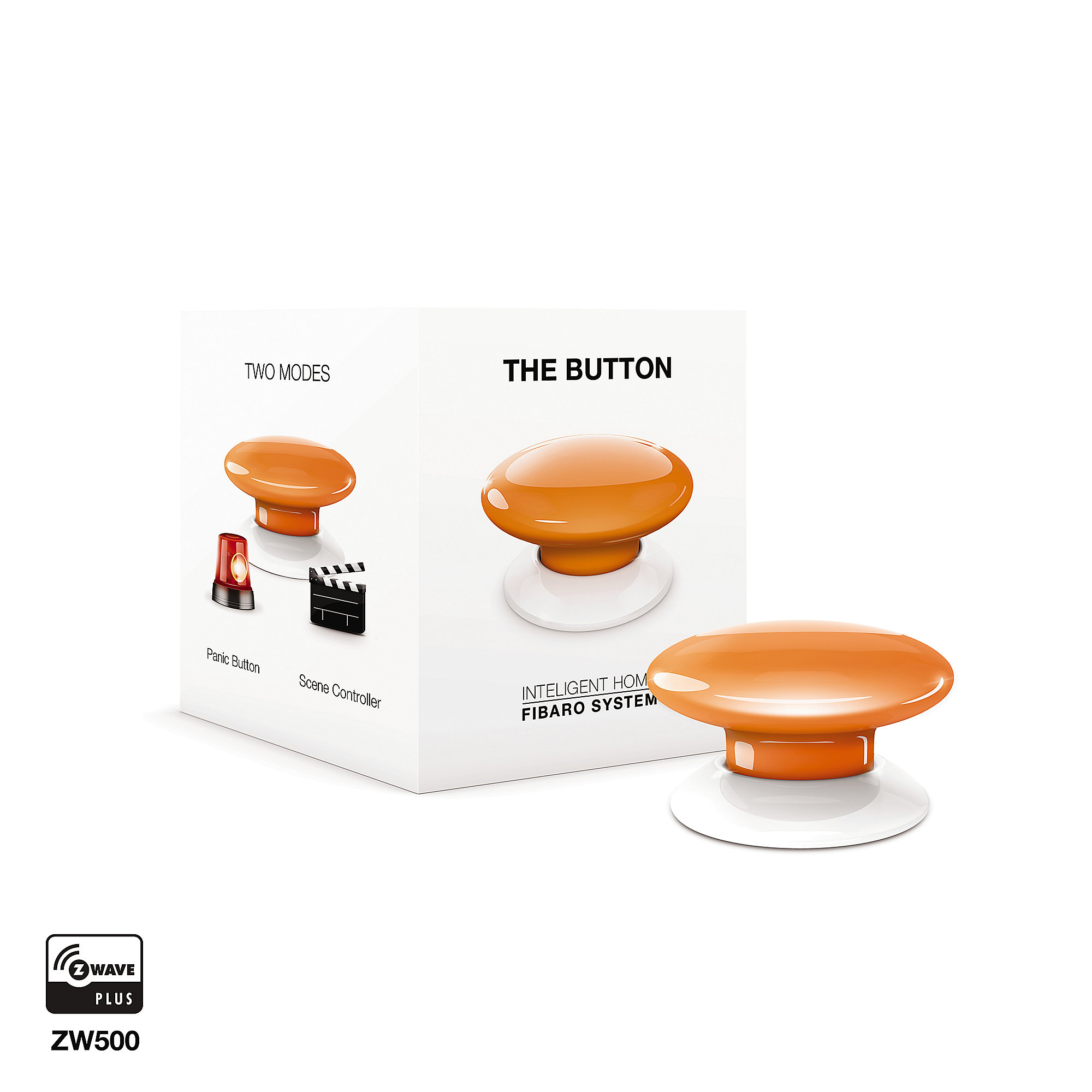 Fibaro Funk Button 08 Szenariensteuerung orange Z-Wave