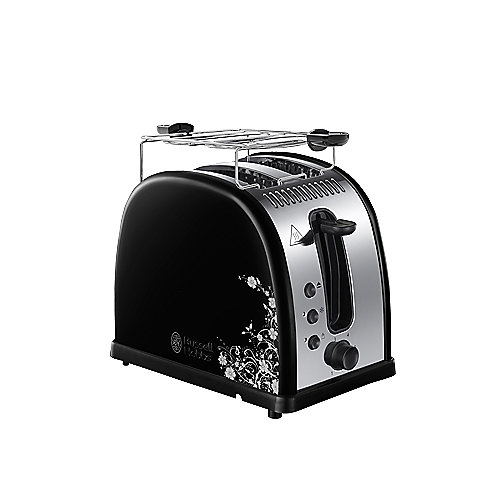 Russell Hobbs 21971-56 Legacy Floral Toaster Edelstahl/Schwarz | 4008496853946