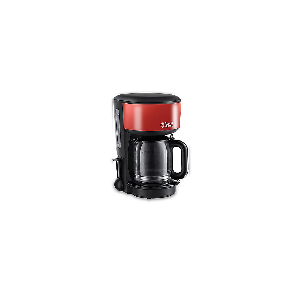 Russell Hobbs 20131-56 Colours Glas-Kaffeemaschine Flame Red
