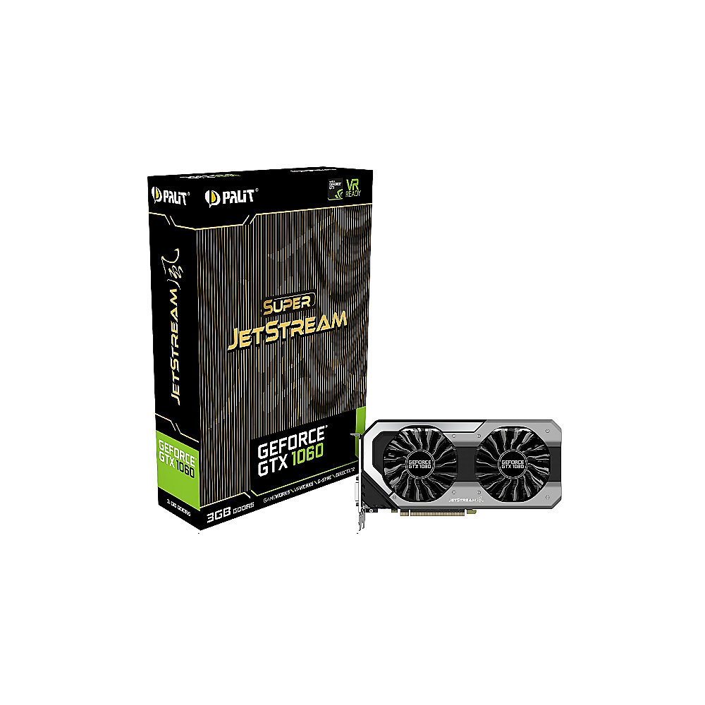 alit GeForce GTX 1060 SuperJetStream 3GB GDDR5 Grafikkarte DVI/HDMI/3xDP