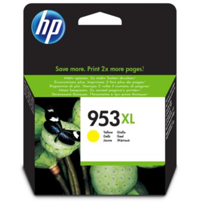 HP  953XL Original Druckerpatrone Gelb F6U18AE für ca. 1.600 Seiten | 0725184104152