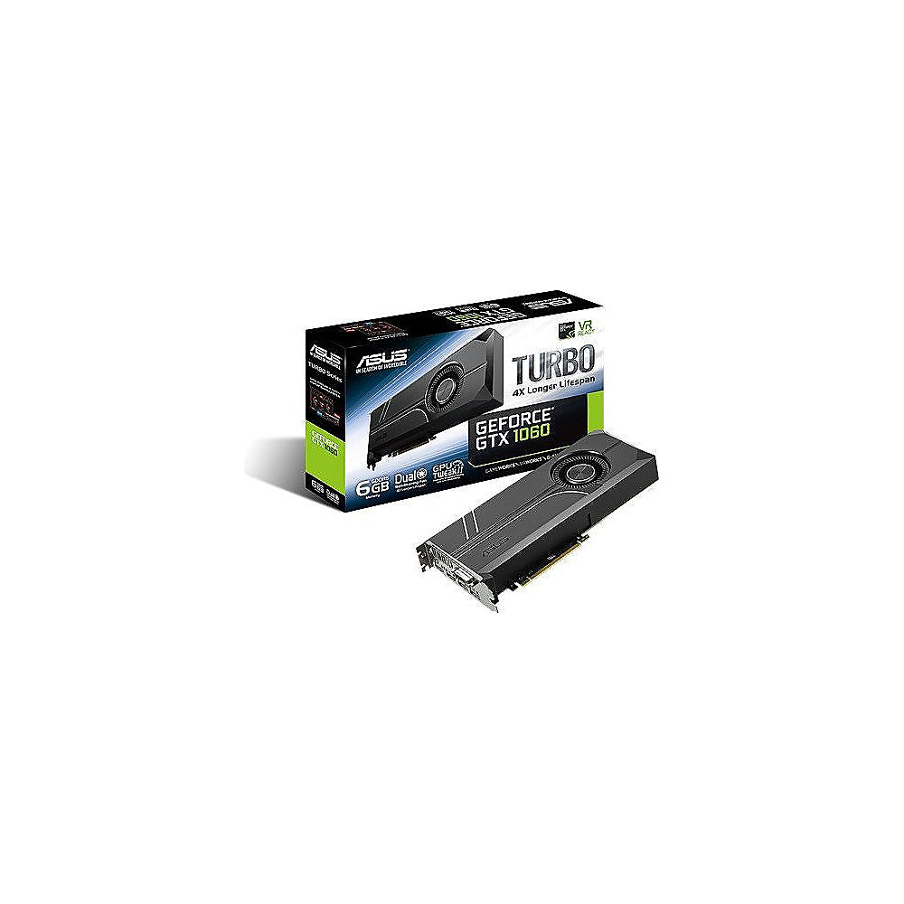 Asus GeForce GTX 1060 Turbo 6GB GDDR5 2xDP/2xHDMI/DVI Grafikkarte