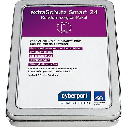 Cyberport extraSchutz24 für Smartphone,-watch & Tablet (401 - 1.250 €) 12 Monate