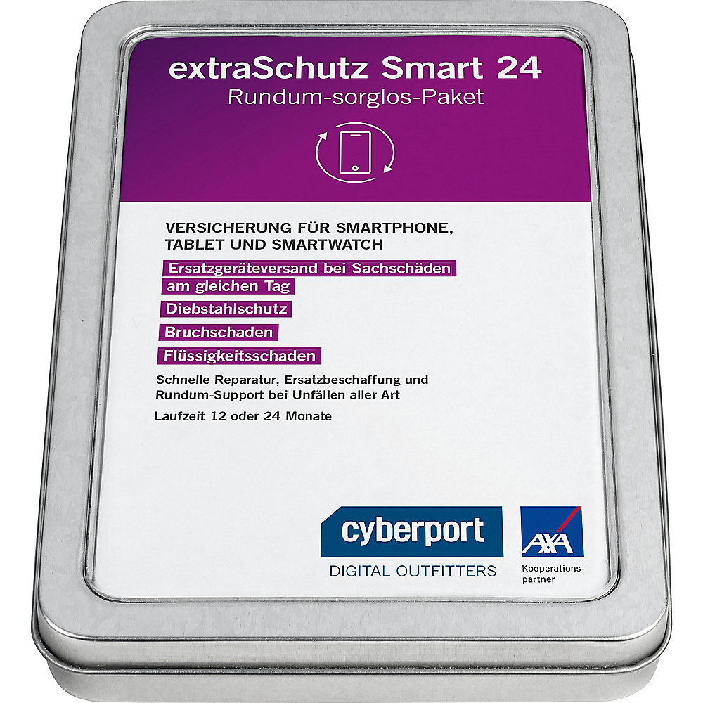 Cyberport extraSchutz24 für Smartphone,-watch & Tablet (- 400 €) 24 Monate