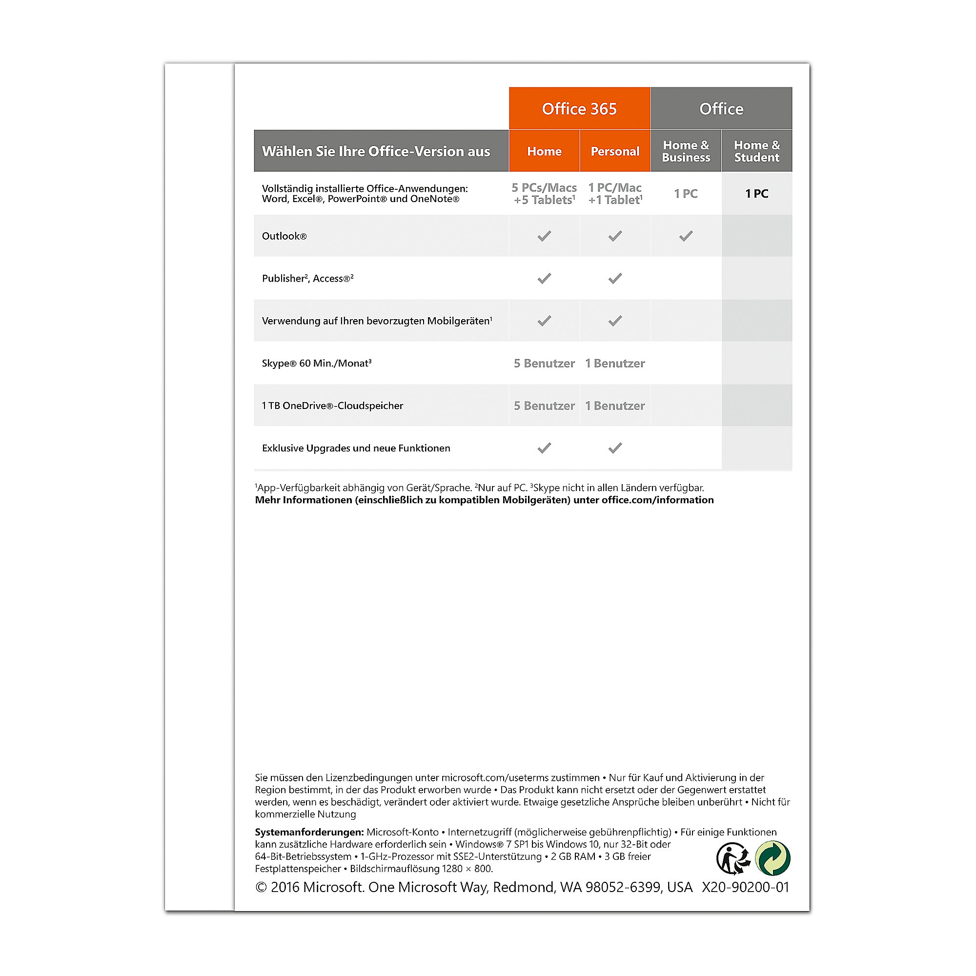 Microsoft Office Home & Student 2016, 1PC PKC (P2)