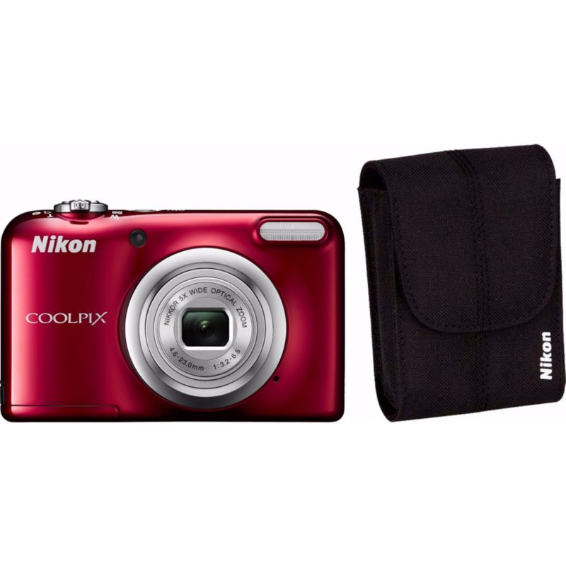 Nikon COOLPIX A10 Digitalkamera Kit rot + Tasche