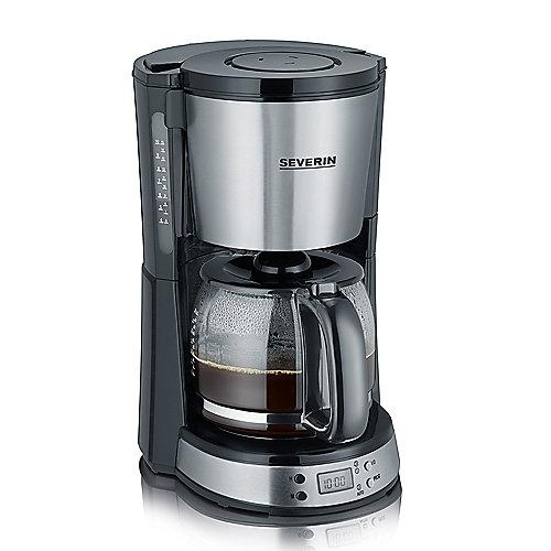 Severin KA 4192 SELECT Kaffeeautomat mit Timer gebürsteter Edelstahl-Schwarz | 4008146023095