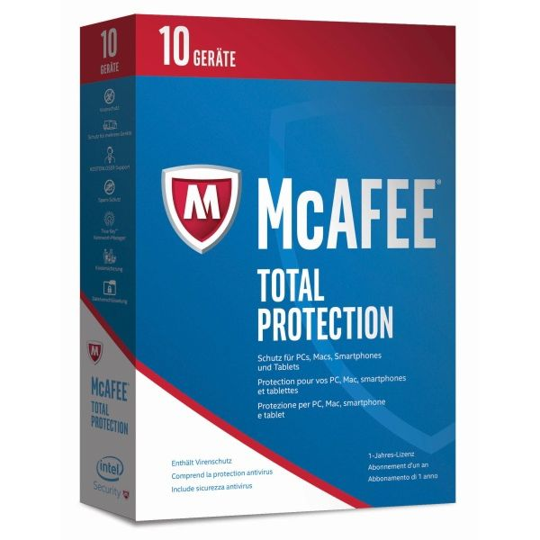 McAfee 2017  Total Protection 10 Device (Code in a Box)