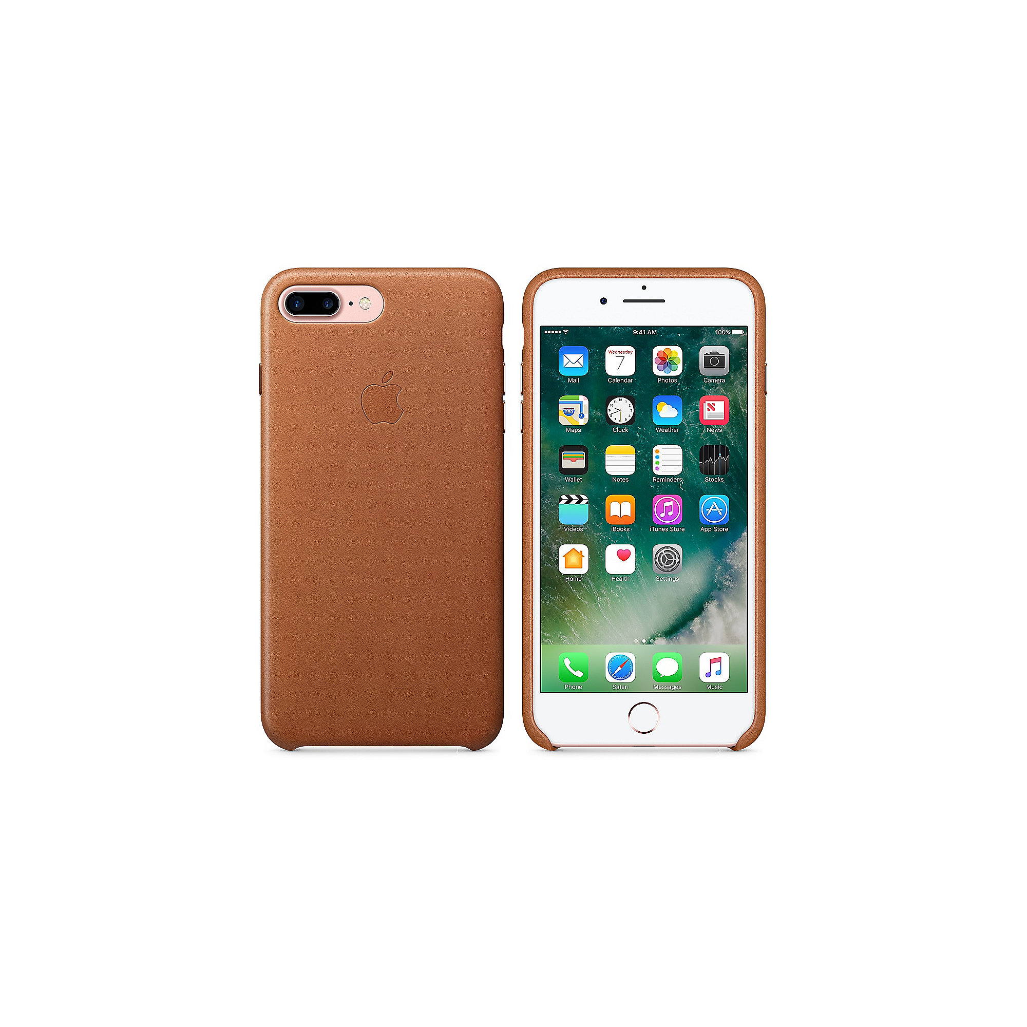 Apple Original iPhone 7 Plus Leder Case-Sattelbraun