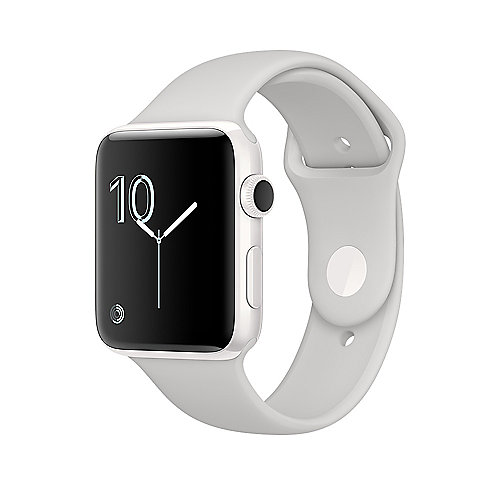 Apple Watch Edition Series 2 38mm Keramikgehäuse Weiß Sportarmband Wolke