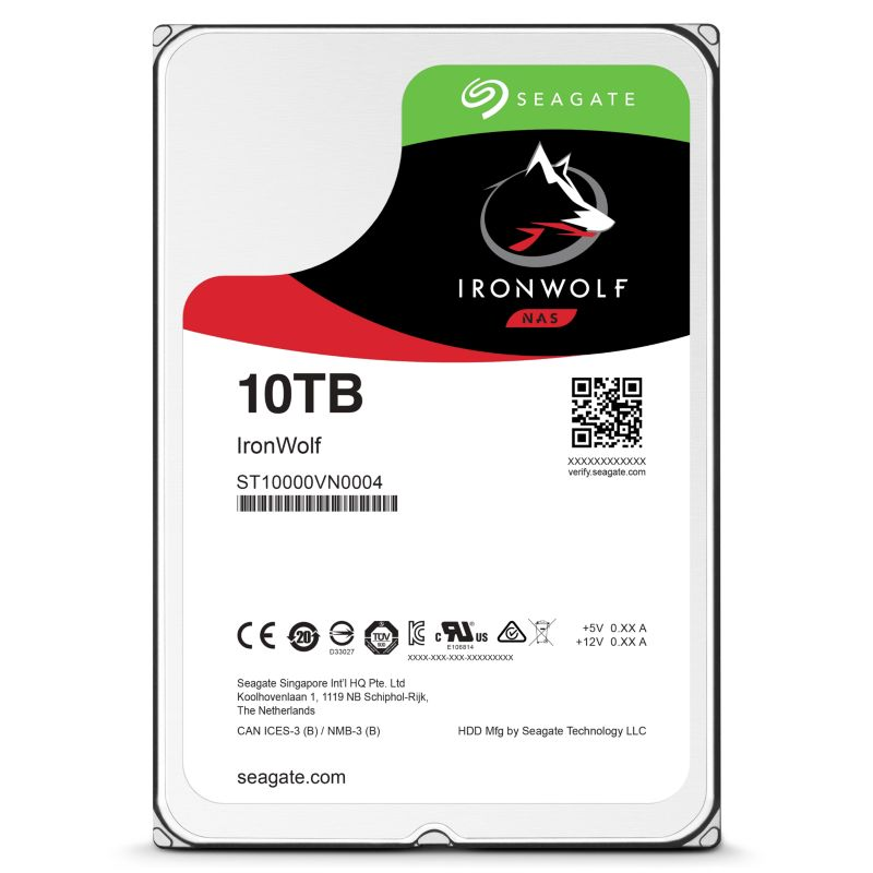 Seagate IronWolf NAS HDD ST10000VN0004 - 10TB 7200rpm 256MB 3.5zoll SATA600