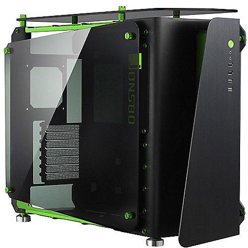 Cooltek MOD1 Midi Tower ATX Gehäuse, schwarz/grün mit Seitenfenster | 4250140355355