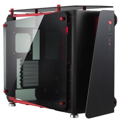 Cooltek  MOD1 Midi Tower ATX Gehäuse, schwarz/rot mit Seitenfenster | 4250140355300