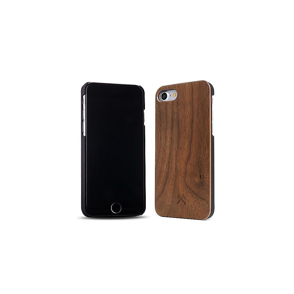 Woodcessories EcoCase Classic für iPhone 7 walnuss + schwarz