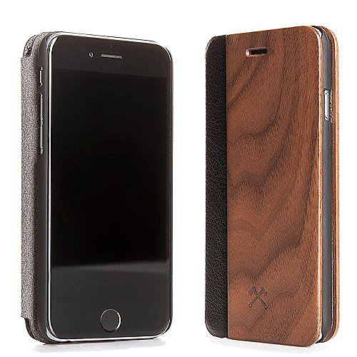 Woodcessories EcoFlip Business für iPhone 7 Plus walnuss + leder