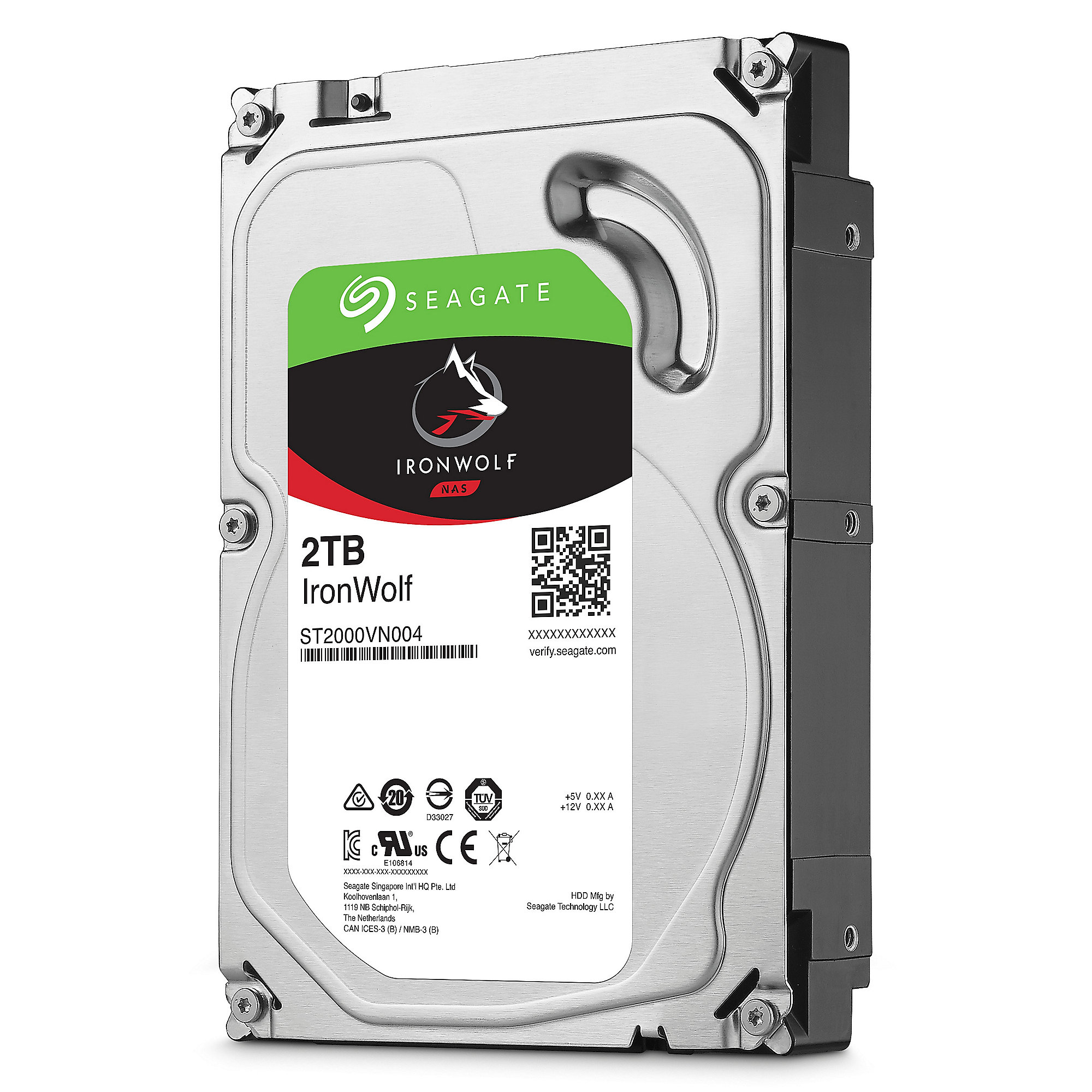 Seagate IronWolf NAS HDD ST2000VN004 - 2TB 5900rpm 64MB 3.5zoll SATA600