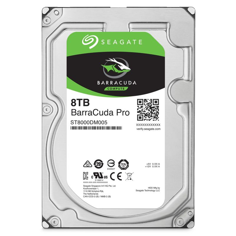 Seagate BarraCuda Pro HDD ST8000DM005 - 8TB 7200rpm 256MB 3.5zoll SATA600