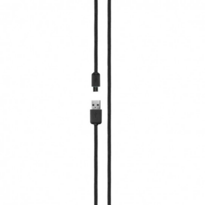 Xqisit  Charge and Sync Cotton Micro-USB Kabel 1,8m schwarz | 4029948015729