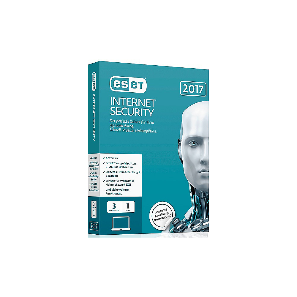 ESET Internet Security 2017 Edition 3 User (Minibox)
