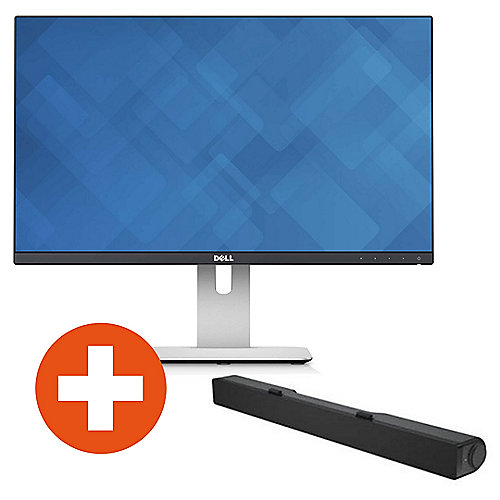 "DELL U2414H 61cm (24"") HDMI/DP 16:9 FullHD IPS Monitor + Soundbar AC511"