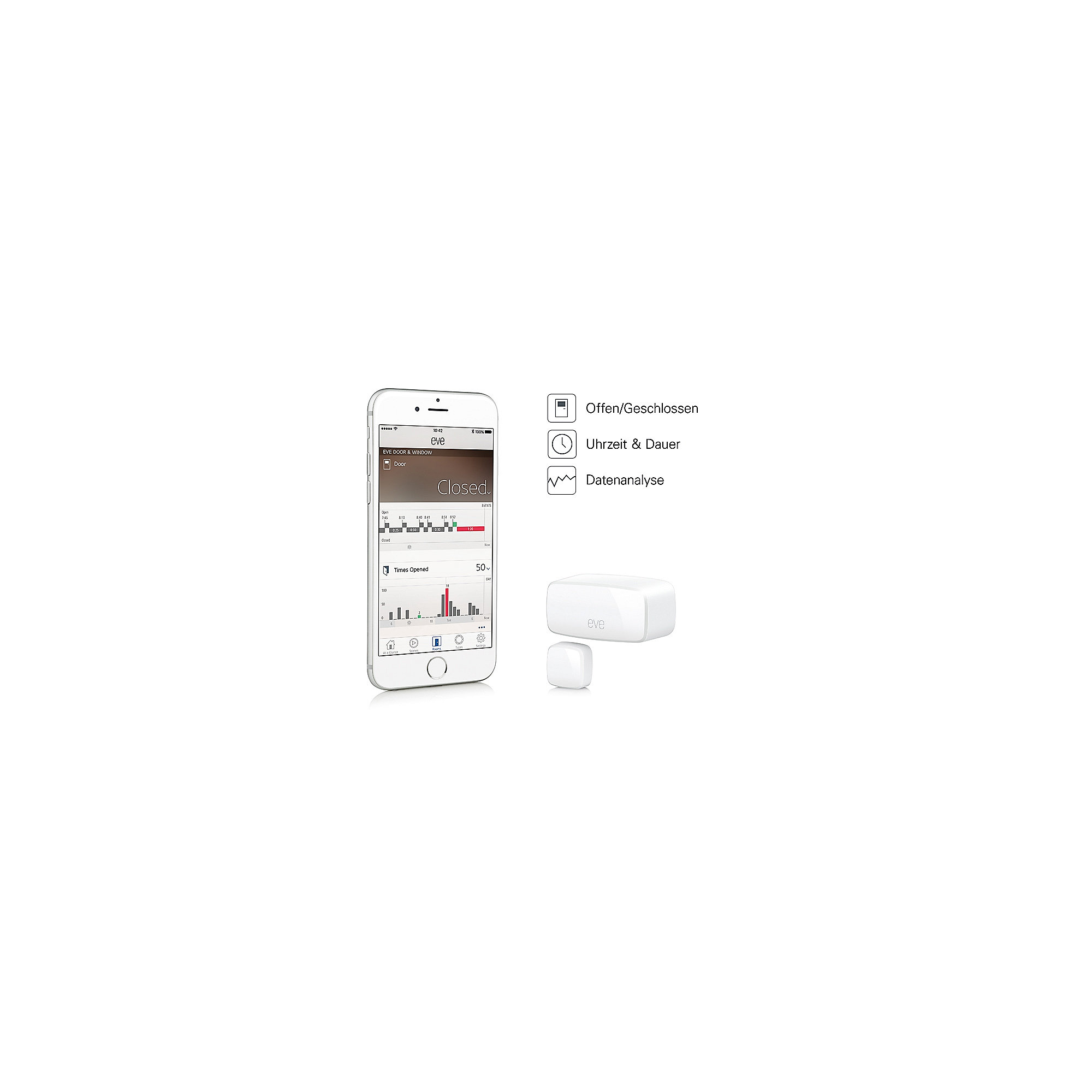 Elgato Eve Thermo Heizkörperthermostat + Eve Door & Window Tür- Fensterkontakt