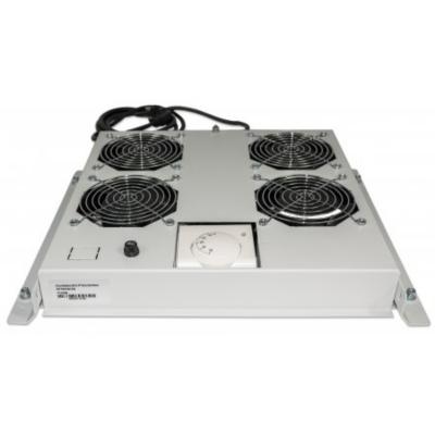 Intellinet  Kühleinheit 4 Lüfter für 19″ Racks Deckenmontage grau | 0766623712798