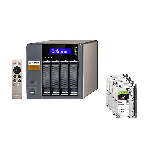 QNAP TS-453A-8G NAS System 4-Bay 8TB inkl. 4x 2TB Seagate ST2000VN004