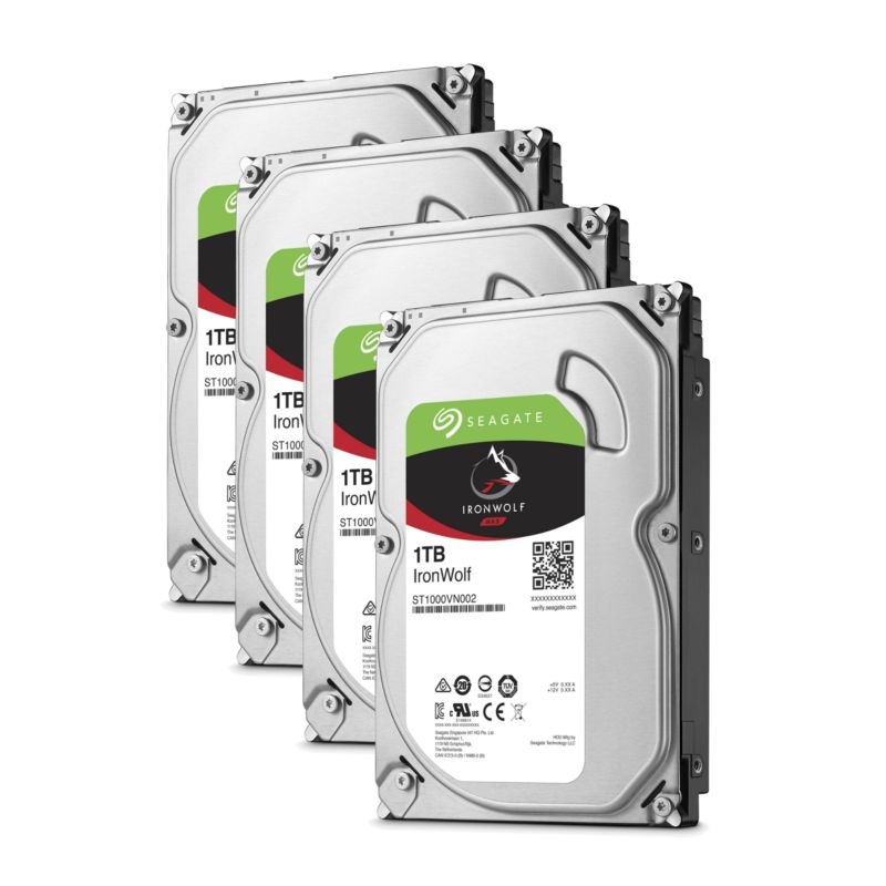QNAP TS-453A-4G NAS System 4-Bay 4TB inkl. 4x 1TB Seagate ST1000VN002