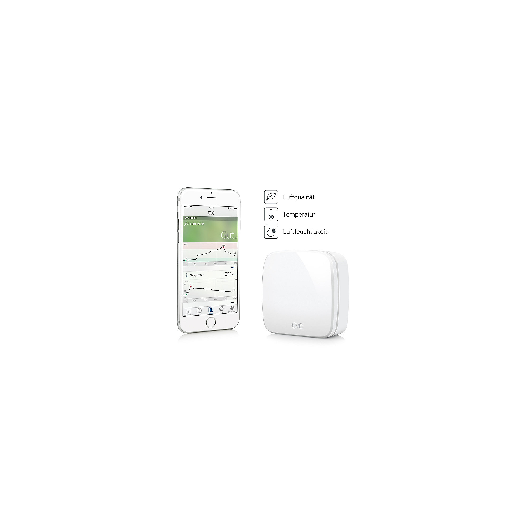 Elgato Eve Bundle 1x Weather 2x Room 2x Door & Window für Apple HomeKit
