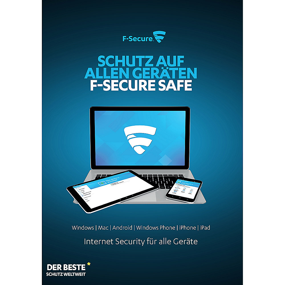 F-Secure SAFE - Internet Security - 1 Jahr/1 Gerät für Win, MacOS, Android, iOS