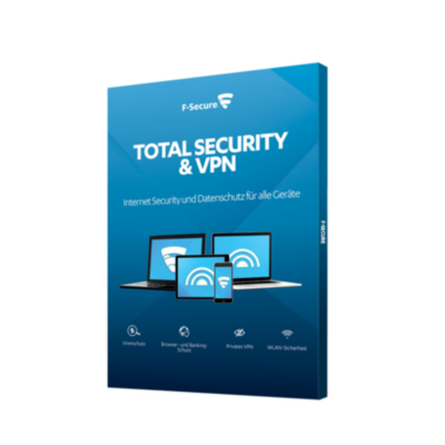F-Secure  Total Security+VPN 5 Geräte 1Y (Version 2018) Box | 6430052575029