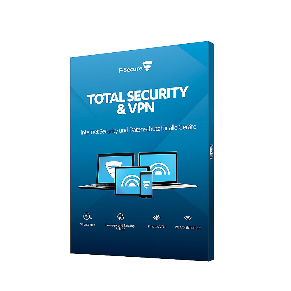F Secure Total Security Vpn 5 Gerate 1y Version 2018 Box Cyberport