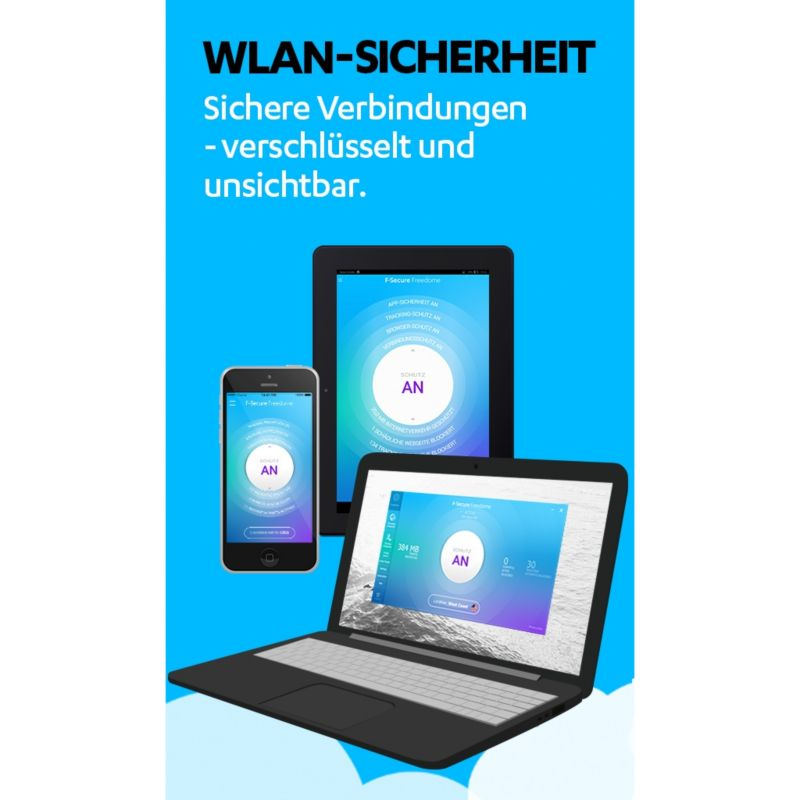 F-Secure Freedome VPN -1 Jahr, 1 Device - mobile - Box