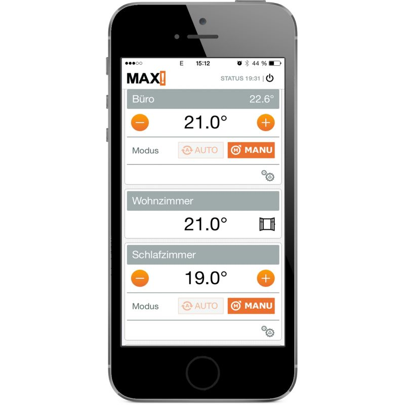 MAX! SmartHome Start Bundle  Inkl. 2x Fensterkontakt 3x Heizkörperthermostat