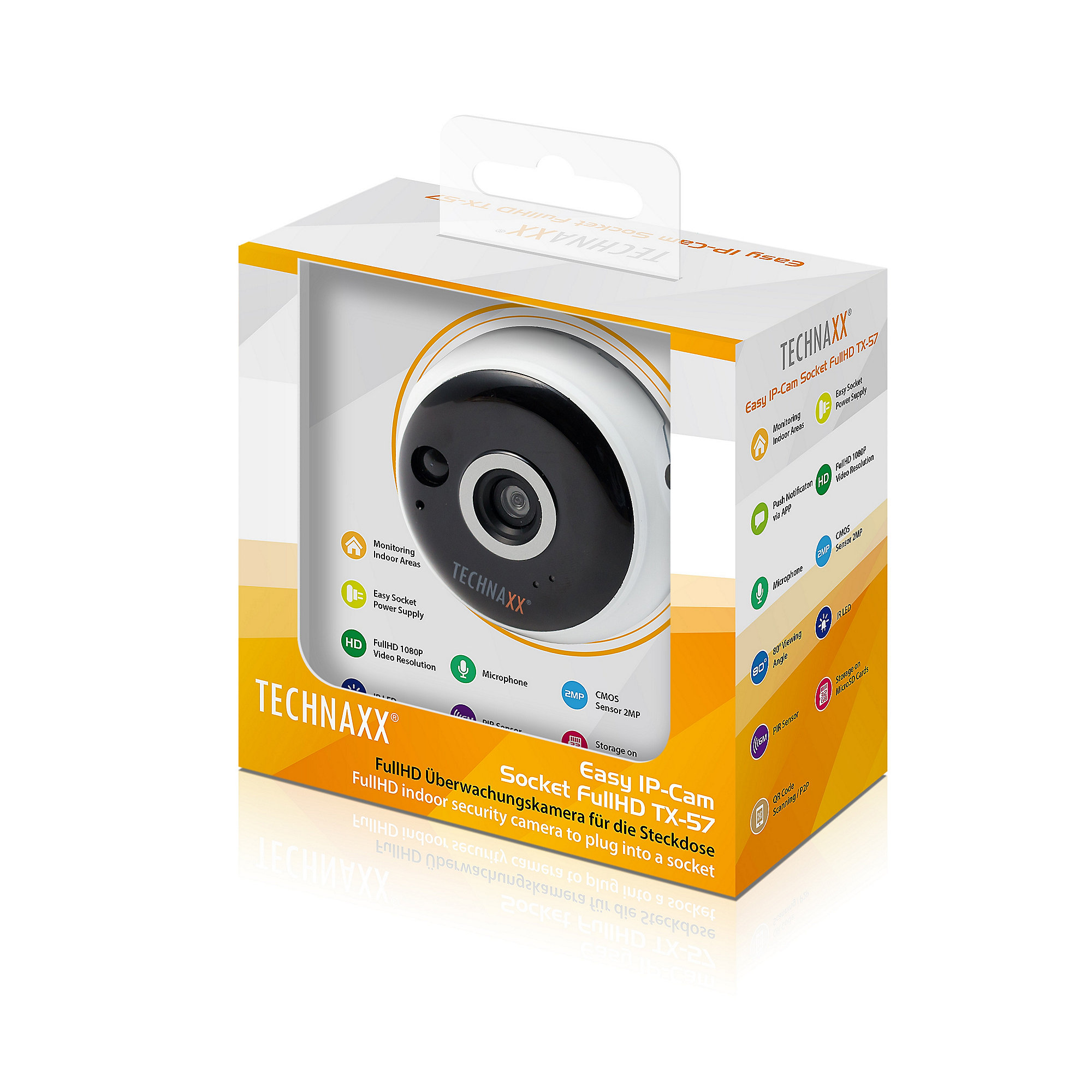 Technaxx TX-57 Indoor Easy IP FullHD Kamera für die Steckdose 2 MP 1080p
