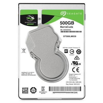 Seagate  BarraCuda HDD ST500LM030 – 500GB 5400rpm 128MB 2.5zoll SATA600 | 8592978062019