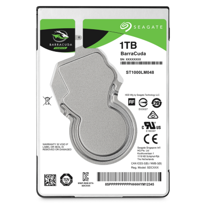 Seagate  BarraCuda HDD ST1000LM048 – 1TB 5400rpm 128MB 2.5zoll SATA600 | 8592978062002