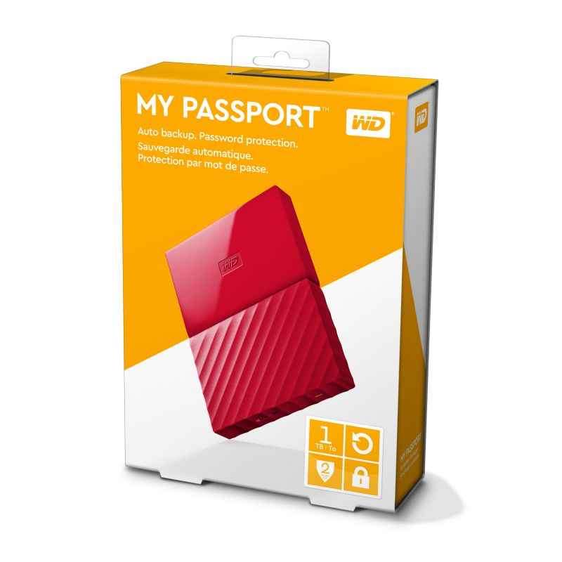 WD My Passport USB3.0 1TB 2.5zoll - Rot NEW