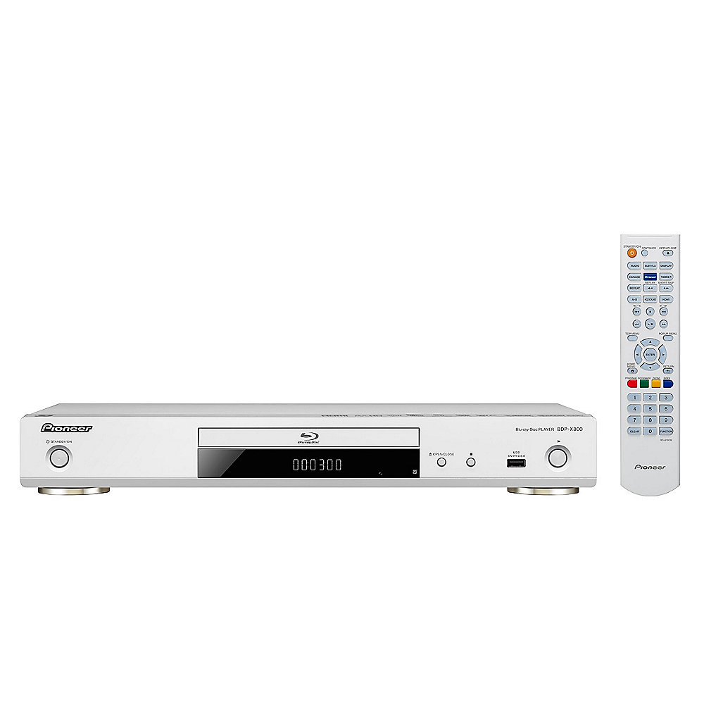 Pioneer BDP-X300-S 3D-Blu-ray Player WiFi HDMI UHD Video Scaler silber