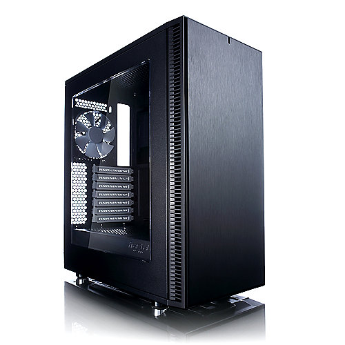 Fractal Design Define C ATX Gaming Gehäuse mit Seitenfenster, schallgedämmt | 7350041084310